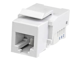 StarTech.com RJ-12 Telephone Modular Keystone Jack, 6P6C, White, KEY2TEL6WH, 15737865, Cable Accessories