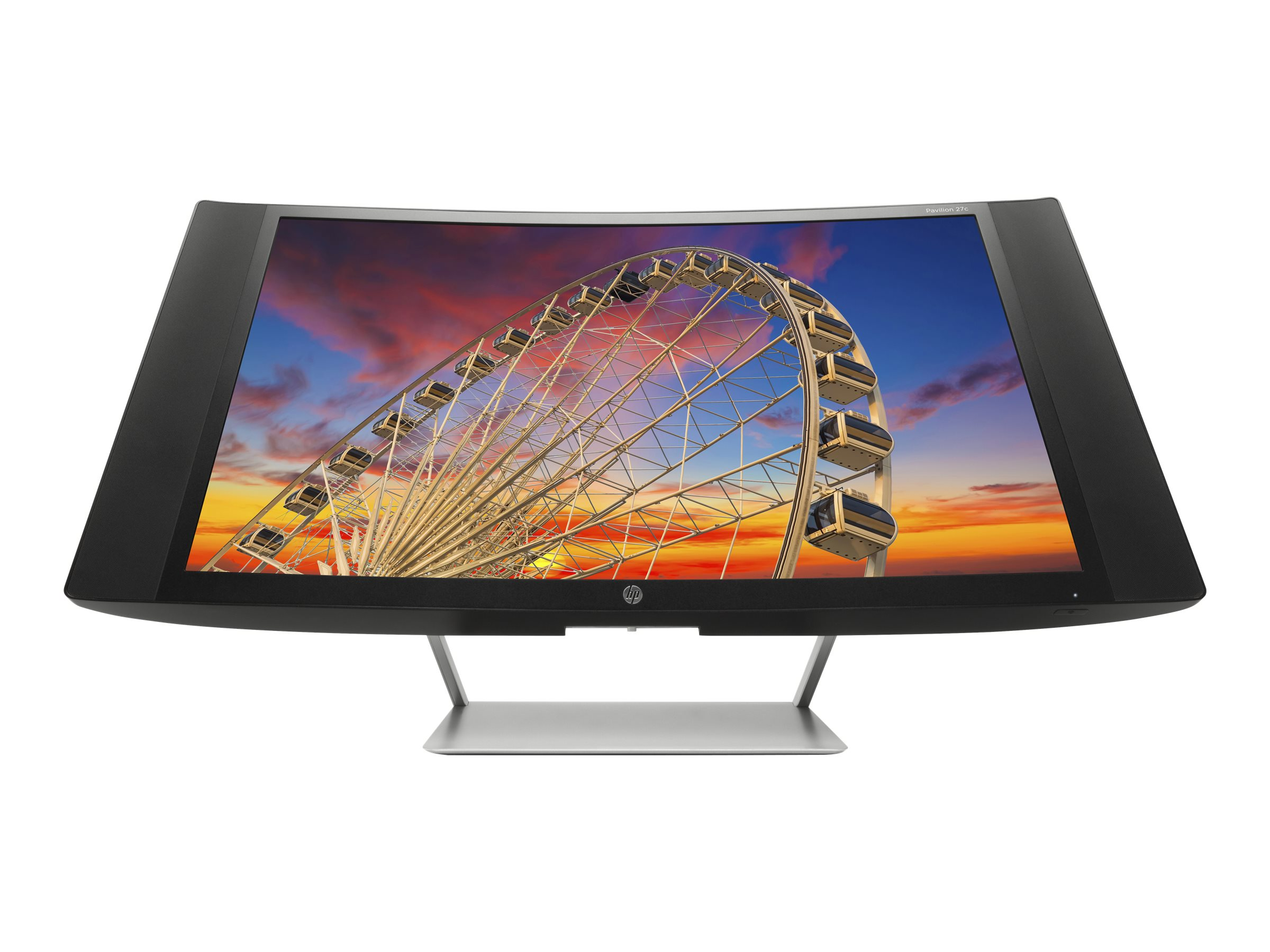 HP 27 Pavilion 27c Full HD LED-LCD Curved Display, Black, J9G67AA#ABA, 18239976, Monitors - LED-LCD
