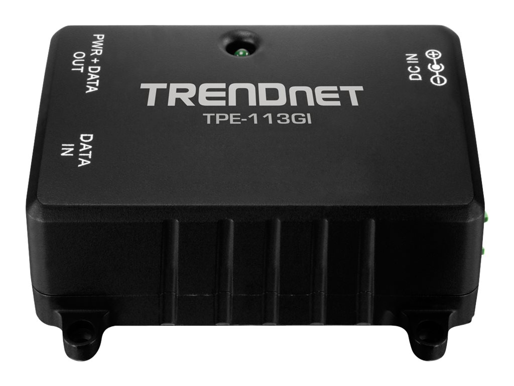 TRENDnet Gig Power over Ethernet Injector, TPE-113GI, 13878875, PoE Accessories