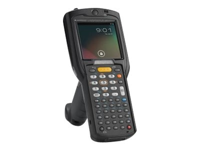 Zebra Symbol MC3200 Gun Grip 1D Laser Android Jelly Bean 48-Key 802.11abgn BT High Cap Battery Expanded Memory, MC32N0-GL4HAHEIA, 19211748, Portable Data Collectors