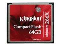 Kingston 64GB Ultimate CompactFlash 266x with Recovery Software, CF/64GB-U2, 16004225, Memory - Flash