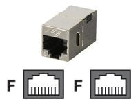 Black Box CAT6 Straight-Through Coupler, Shielded, Metal