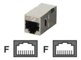 Black Box CAT6 Straight-Through Coupler, Shielded, Metal, FM608, 32864516, Cable Accessories