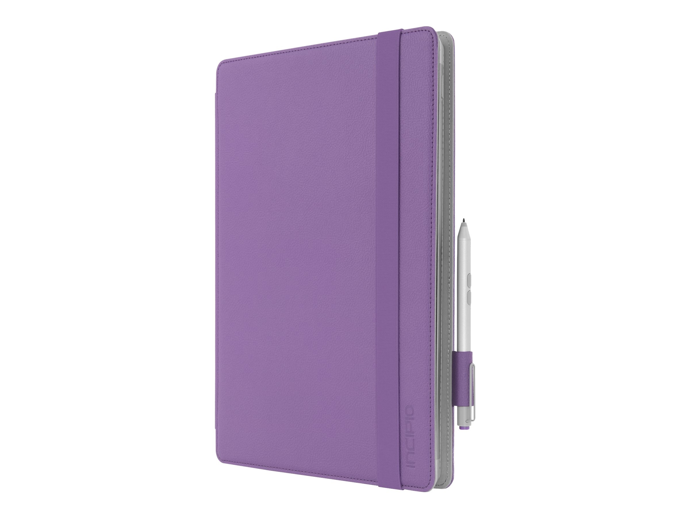 Incipio Roosevelt Slim Folio w  Snap-On Type Cover Compatibility for Microsoft Surface Pro 3 & 4, Purple