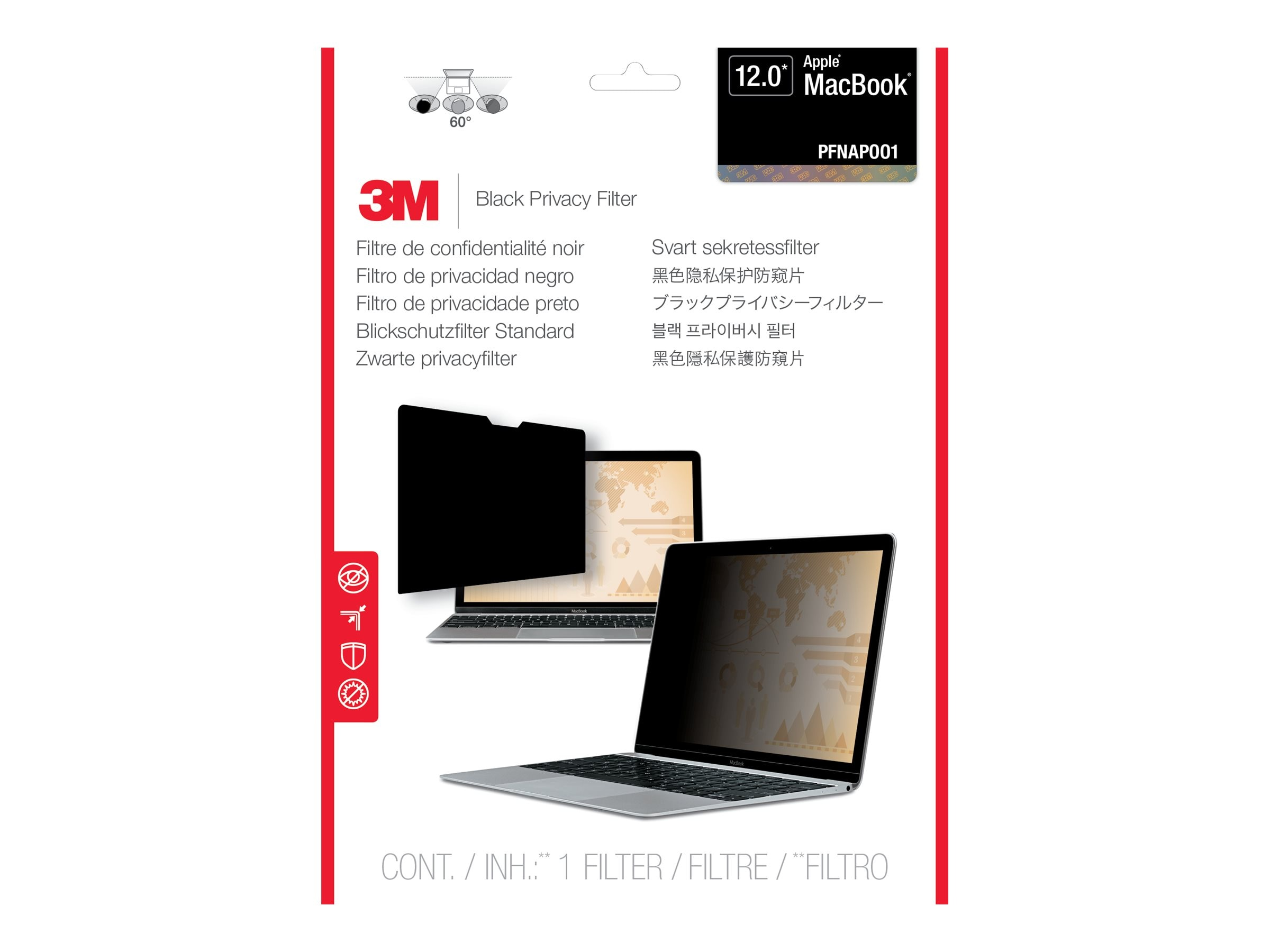 3M Privacy Filter for Apple Macbook 12-inch, PFNAP001