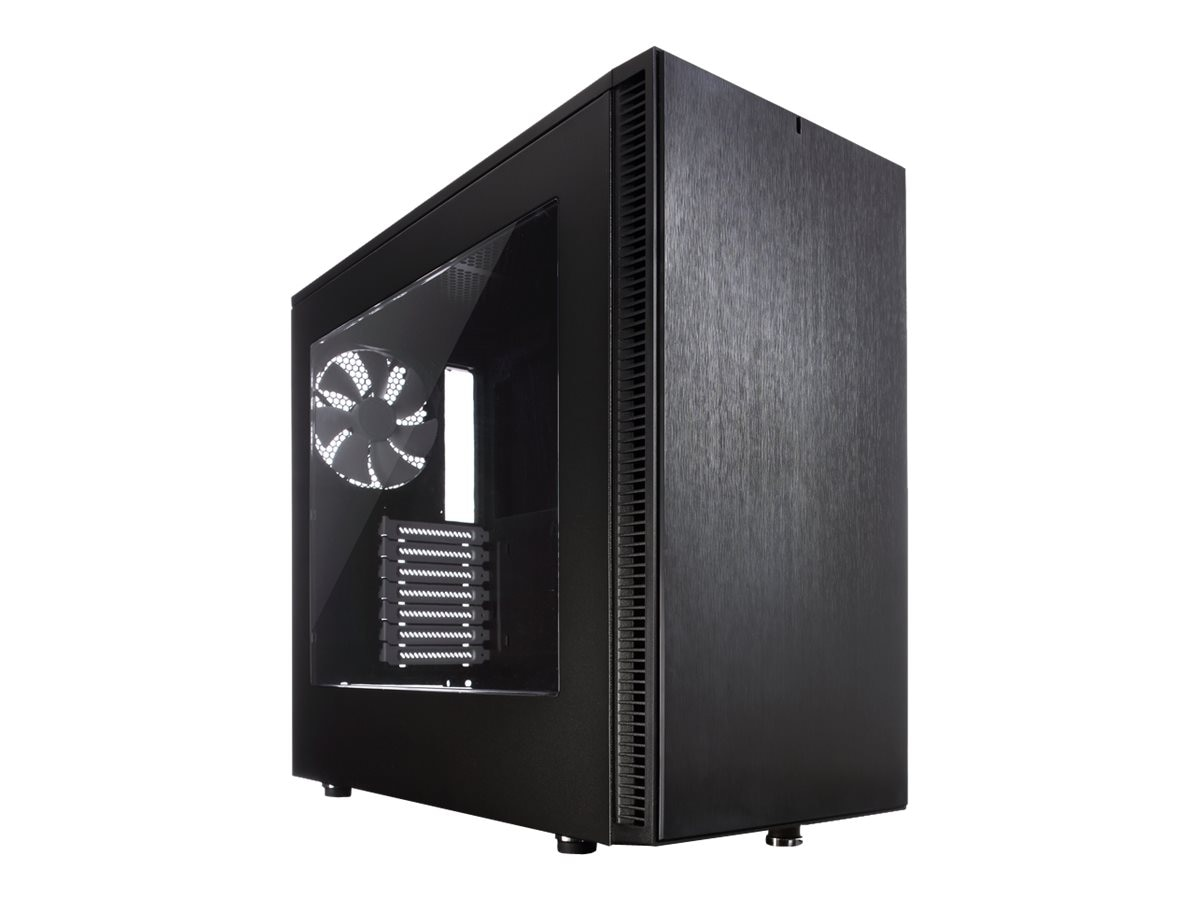 Fractal Design Chassis, Define S with Window, Black, FD-CA-DEF-S-BK-W