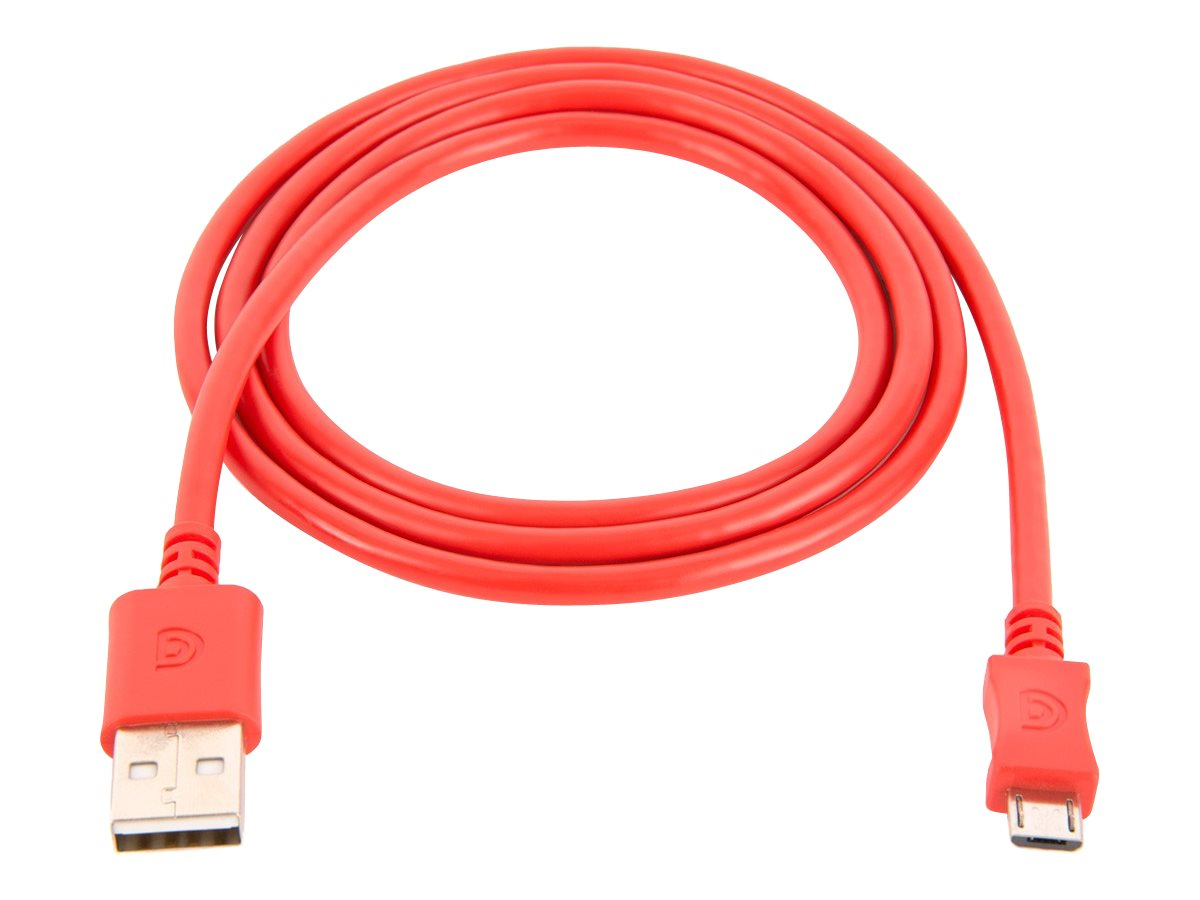 Griffin USB Type A to Micro USB M M Cable, Red, 3ft