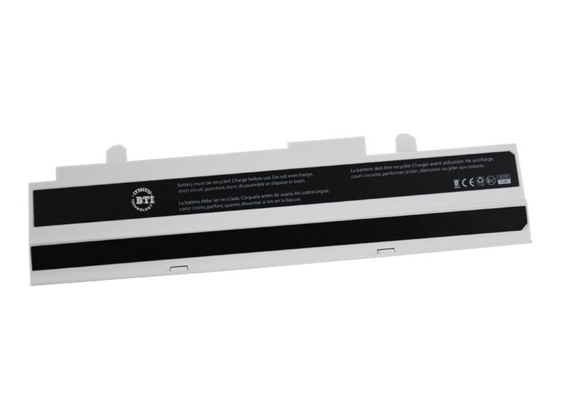 BTI Battery, Li-Ion 10.8V 4400mAh 6-cell for ASUS eee PC 1015 1016 1215, White, AS-EEE1015W