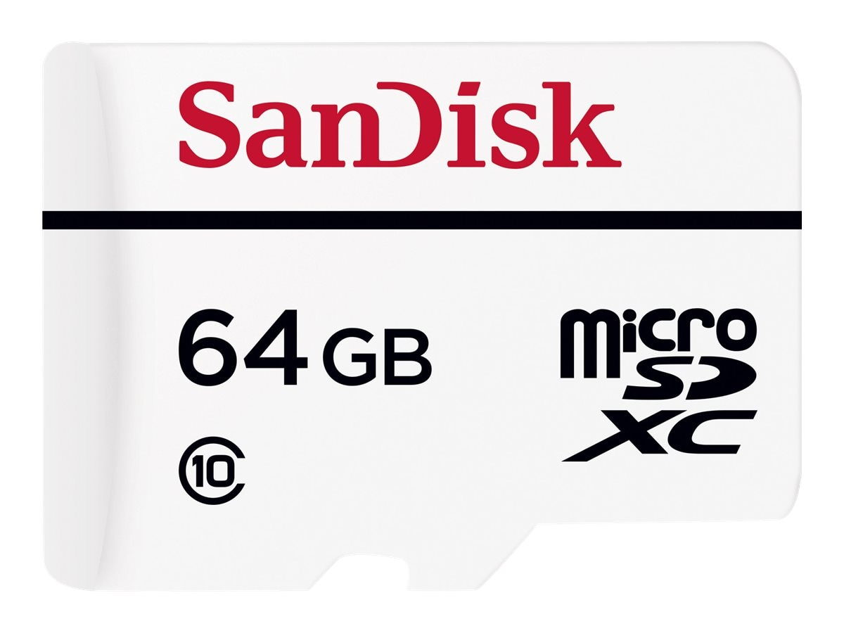 SanDisk 64GB High Endurance Video Monitoring microSDXC Memory Card with SD Adapter, Class 10, SDSDQQ-064G-G46A