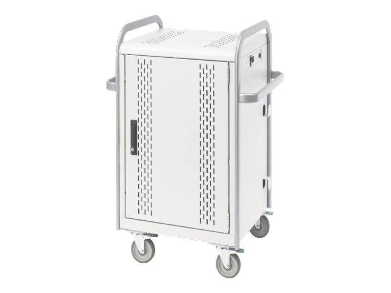 Bretford Manufacturing 24-Unit Tablet Store Charge Transport Cart, MDMTAB24-CTAL, 15009876, Computer Carts