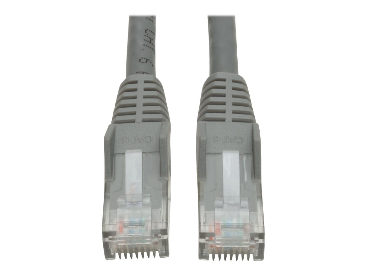 Tripp Lite Cat6 UTP Gigabit Ethernet Patch Cable, Gray, Snagless, 1ft