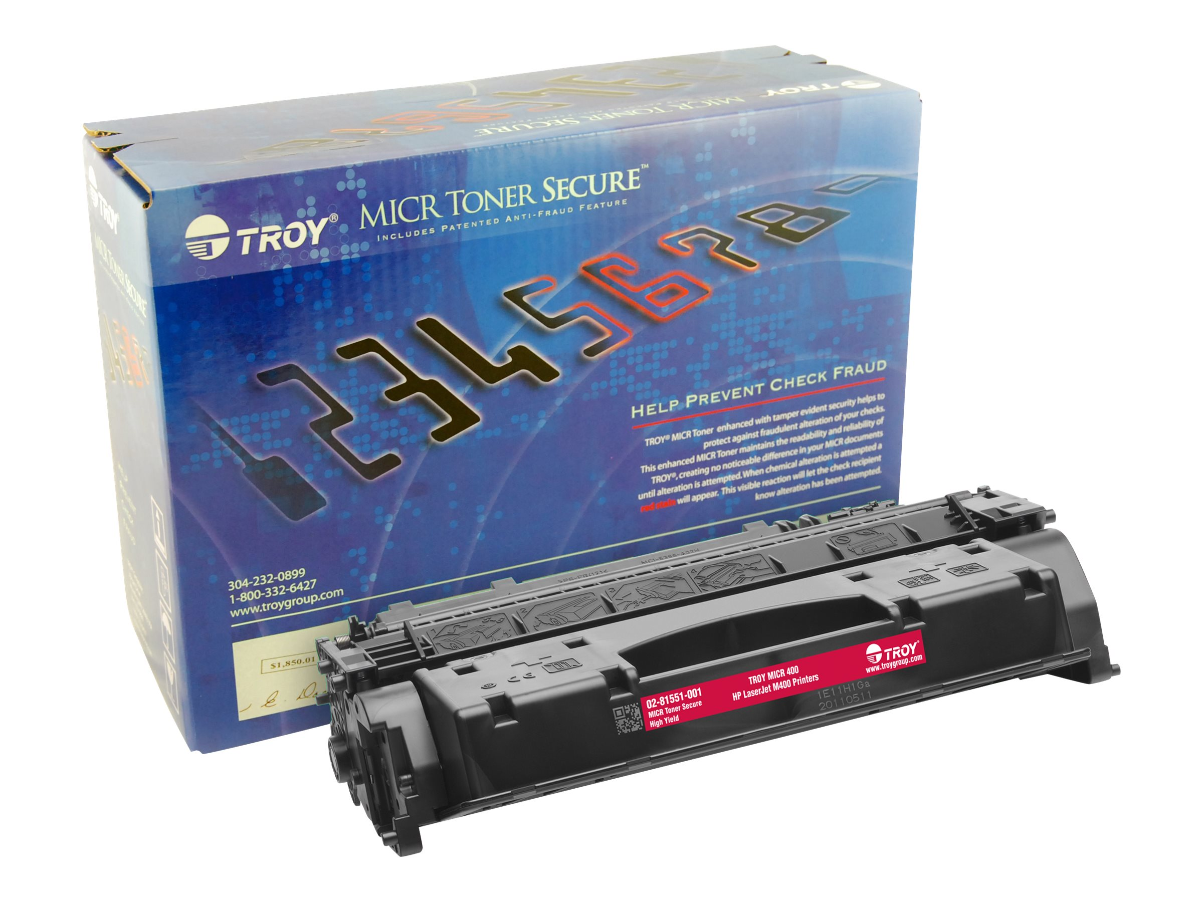 Troy Black M400 MICR Secure High Yield Toner Cartridge