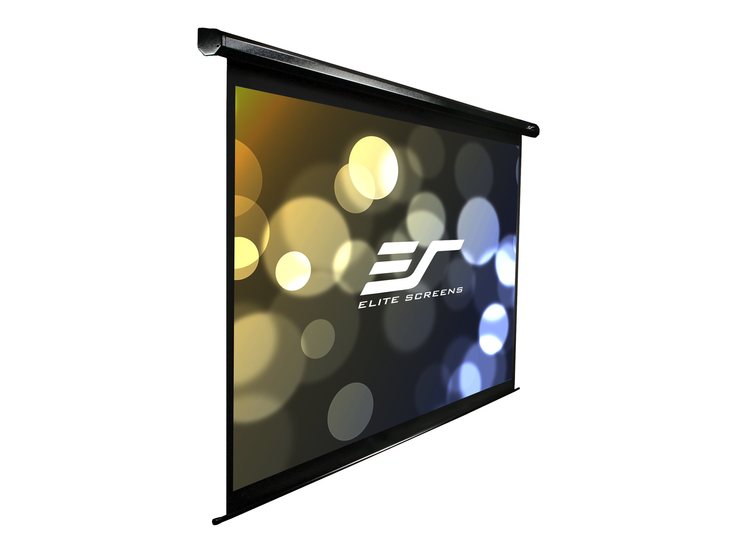 Elite VMax2 Motorized Projection Screen, Black, IR RF 12V, 16:10, 128, VMAX128UWX2, 9777262, Projector Screens
