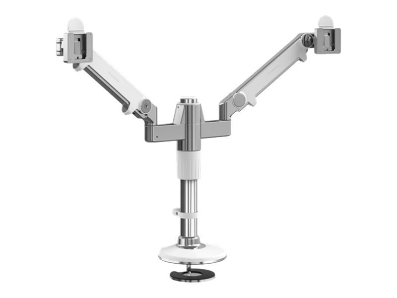 Humanscale MFlex M2 Monitor Arm with Dual Displays Support, (2) Dynamic Link Arms, Bolt-Thru Mount, MF22W55B12