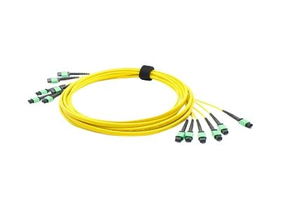 ACP-EP Fiber SMF Trunk 72 6MPO x 6MPO Female Type A OS1 Cable, 1m, ADD-TC-1M72-6MPF1