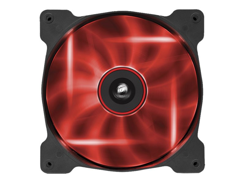 Corsair Air Series AF140 Case Fan Quiet Edition Red LED, Single Pack, CO-9050017-RLED, 16375131, Cooling Systems/Fans