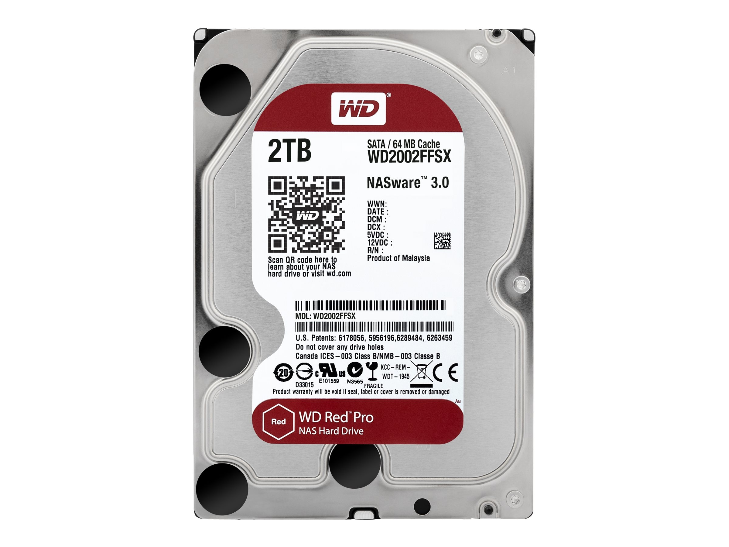 WD 2TB Red Pro SATA 6Gb s Internal Hard Drive - 64MB Cache, WD2002FFSX