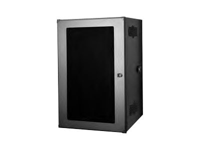 Chatsworth CUBE-iT PLUS Wall Cabinet; 19W x 36H x 24D; Computer Beige; 18  RMU; Top; Plexiglass Door