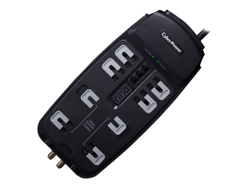 CyberPower Home Theater Series Surge Suppressor 2850 Joules, (8) Outlets, Phone Coax Protection, CSHT808TC, 14249958, Surge Suppressors