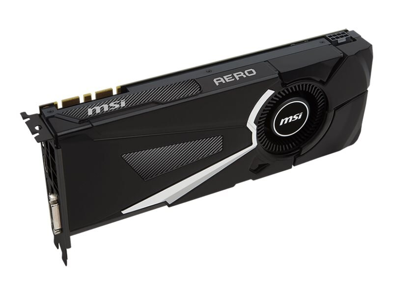 Microstar GeForce GTX 1080 PCIe 3.0 x16 Graphics Card, 8GB GDDR5X, GTX 1080 AERO 8G  OC