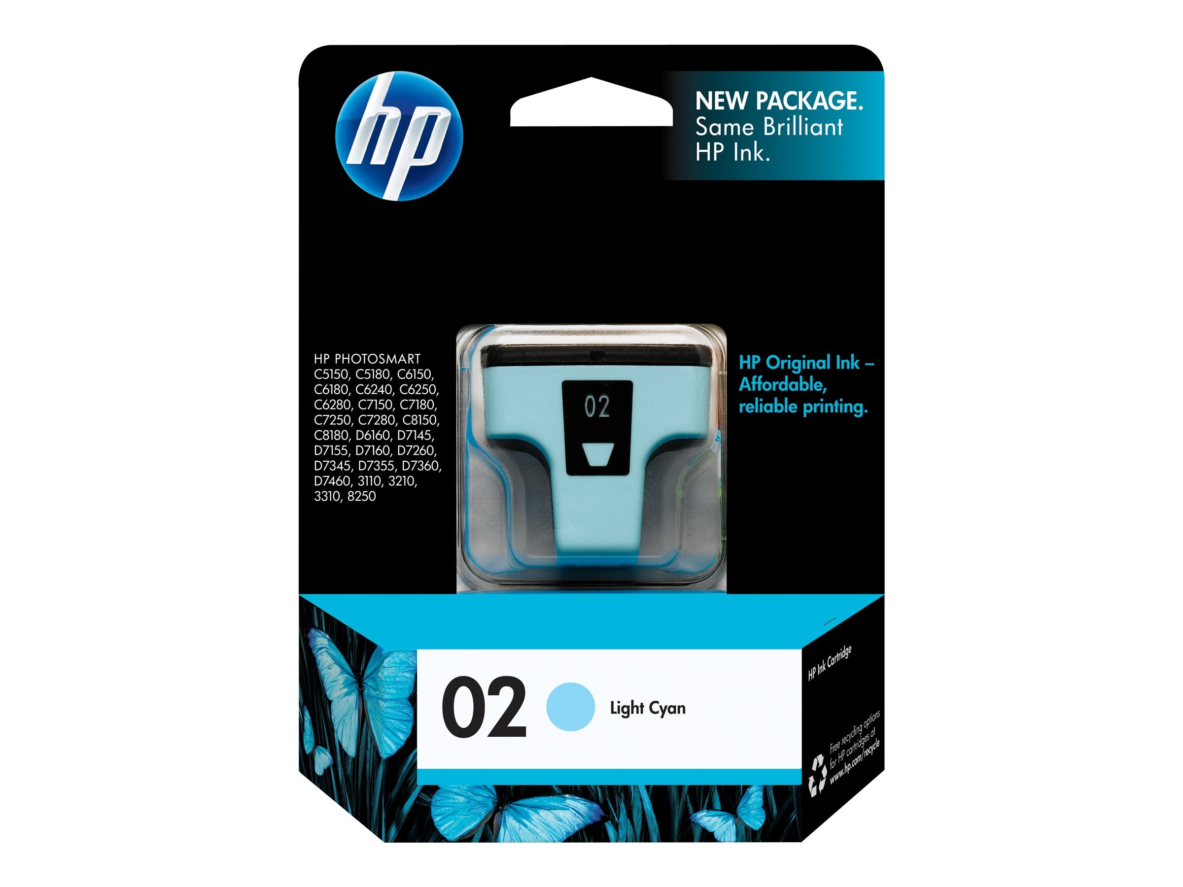 HP 02 (C8774WN) Light Cyan Original Ink Cartridge