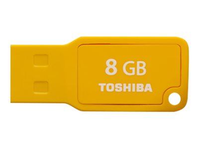 Toshiba 8GB TransMemory U201 Mini USB 2.0 Flash Drive, Yellow, PFU008U-1AMY, 30573168, Flash Drives