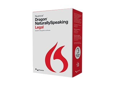 Nuance Dragon NaturallySpeaking 13.0 Legal - Retail, A509A-G00-13.0, 17981984, Software - Voice Recognition