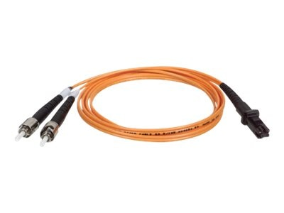 Tripp Lite Fiber Optic Patch Cable, MTRJ ST, 62.5 125, Duplex Multimode, 3ft, N308-003