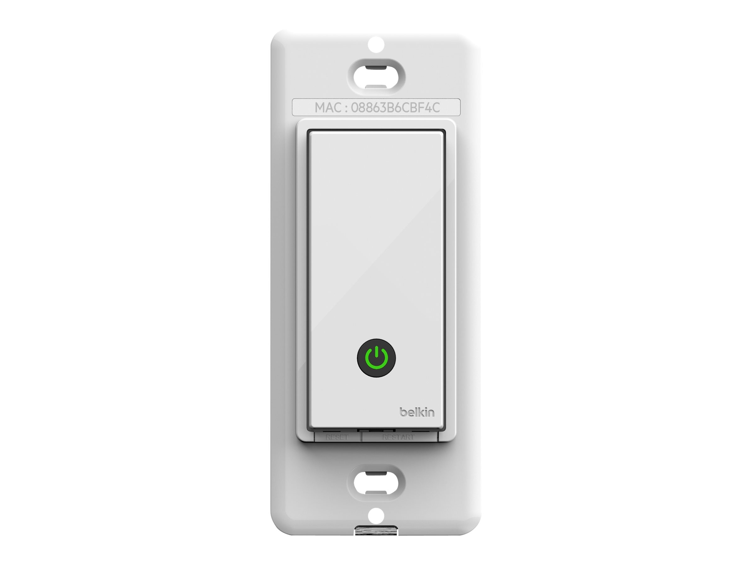 Belkin WeMo Light Switch w  Faceplate, F7C030FC, 16305175, Premise Wiring Equipment
