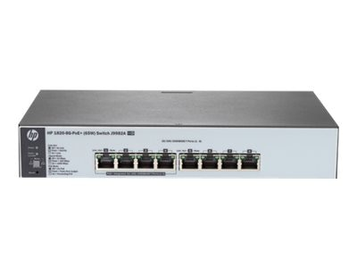 HPE 1820-8G-POE+ (65W) Switch, J9982A#ABA, 18984618, Network Switches