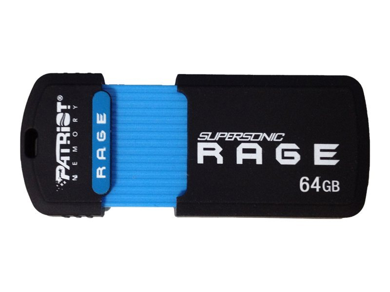 Patriot Memory 64GB Supersonic Rage XT USB 3.0 Flash Drive, PEF64GSRUSB, 15317692, Flash Drives