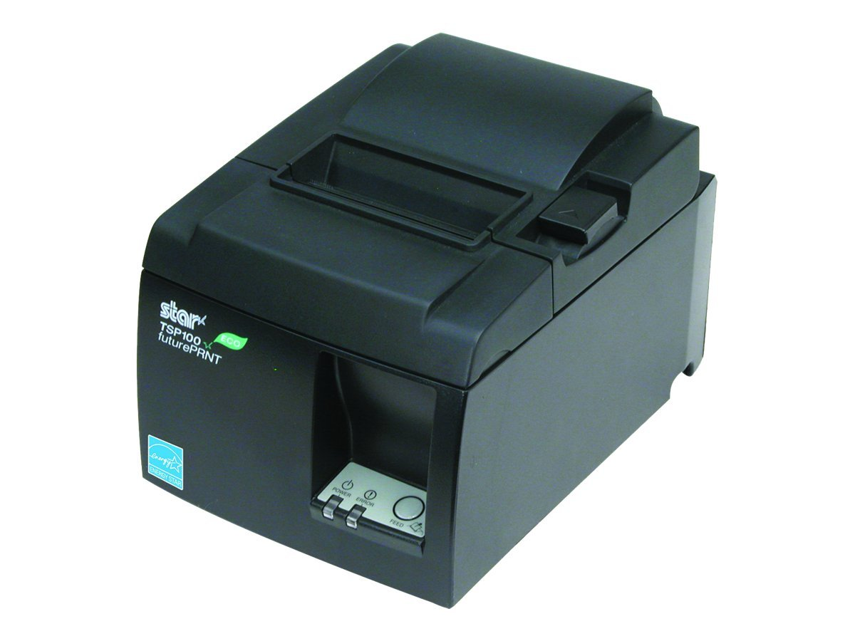 Star Micronics TSP143IIU ECO USB Thermal Printer - Gray w  Cutter, Internal Power Supply & Cables