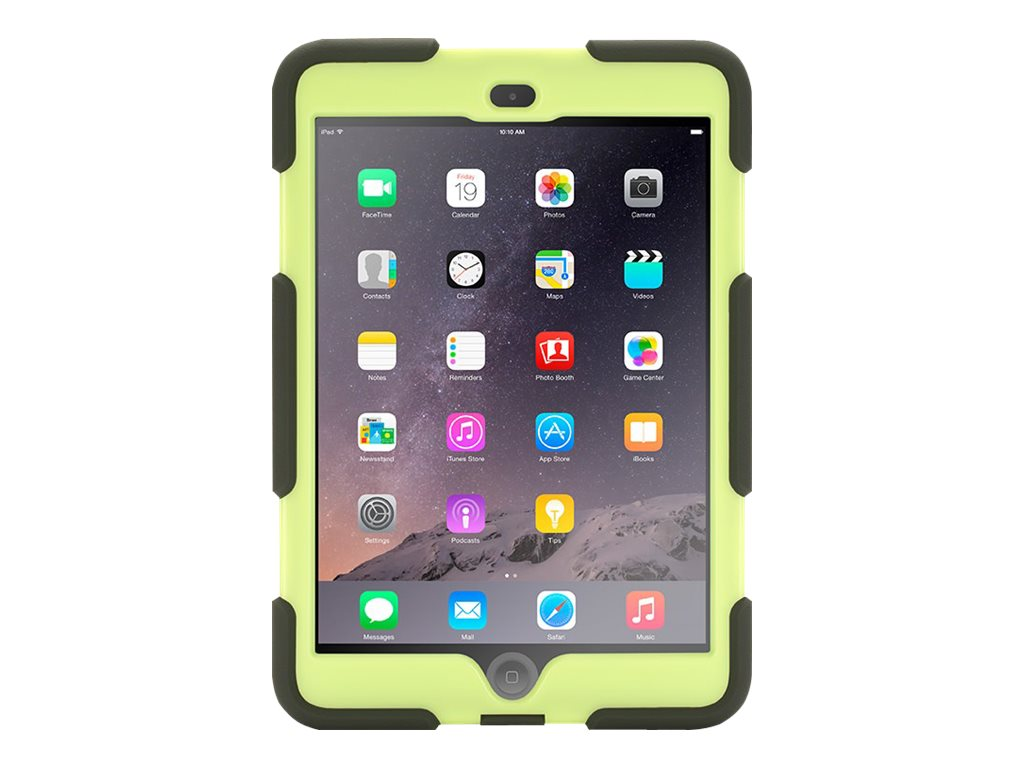 Griffin Survivor All-Terrain for iPad mini Touch ID Compatible, Olive Lime, GB36279-2, 20022848, Carrying Cases - Other