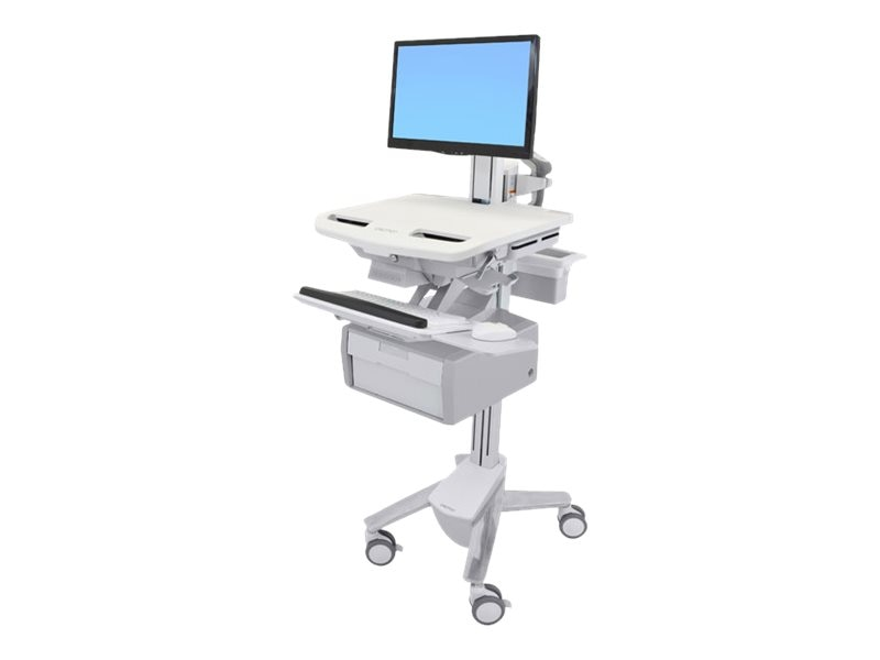 Ergotron StyleView Cart with LCD Pivot, 1 Tall Drawer, SV43-13B0-0