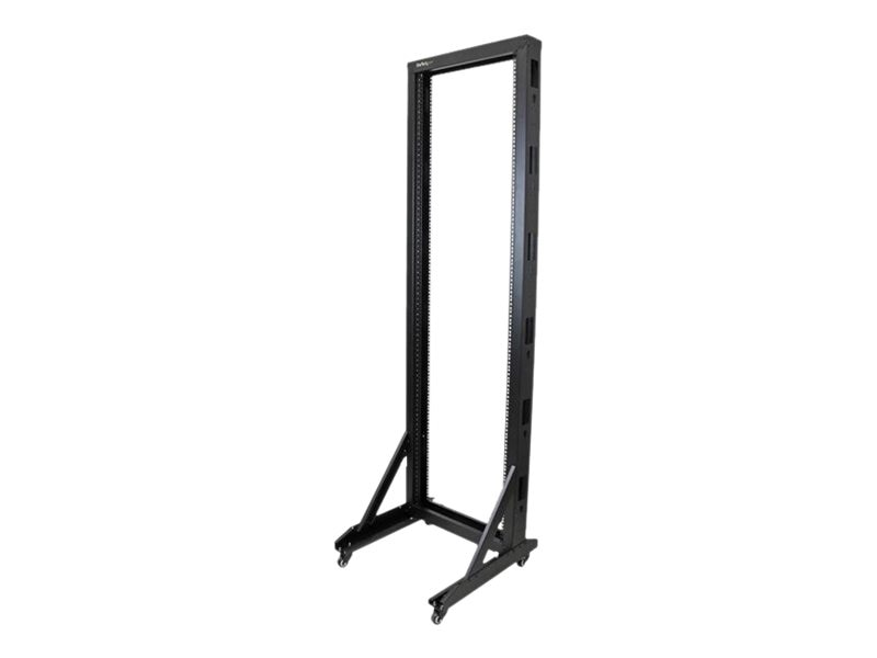 StarTech.com 2-Post Server Rack w  Casters, 42U