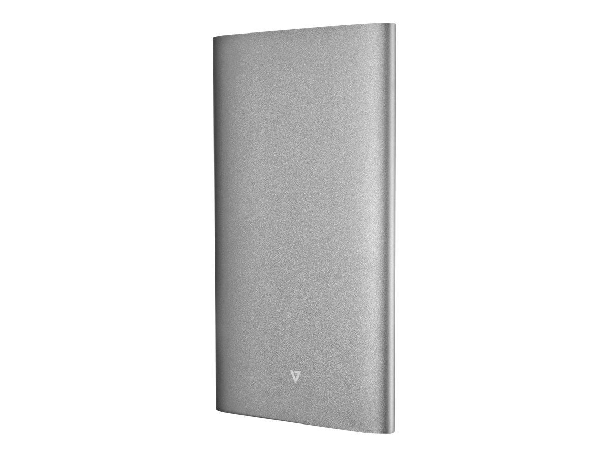 V7 Select PowerBank 10,000mAh Dual-Port Polymer Aluminum Alloy 4.2A, PB10000P-4NS