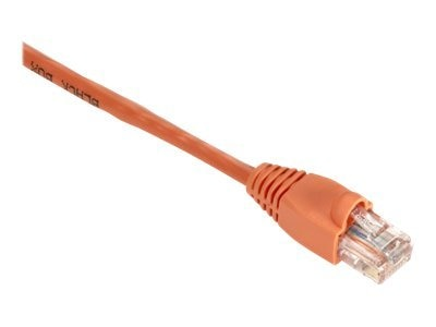 Black Box GigaBase 350MHz CAT5E Snagless Booted Patch Cable, Orange, 1ft