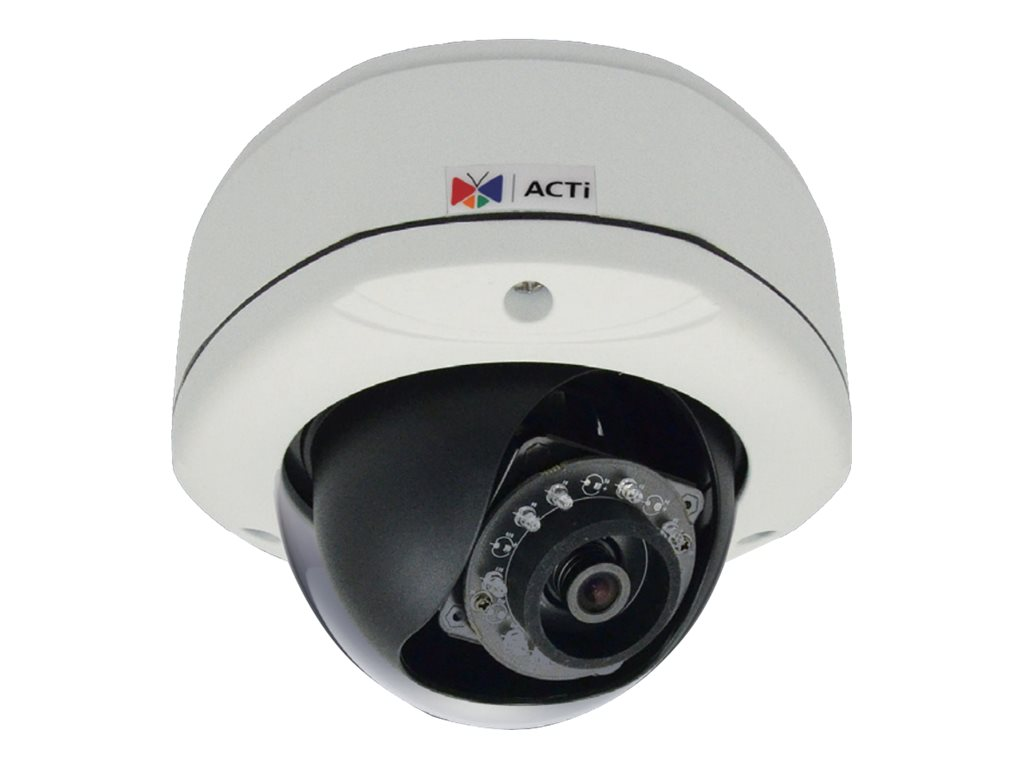 Acti 1MP Outdoor Day Night Dome Camera with IR Fixed Lens