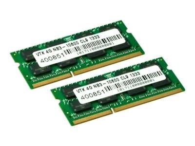 VisionTek 8GB PC3-10600 204-pin DDR3 SDRAM SODIMM Kit
