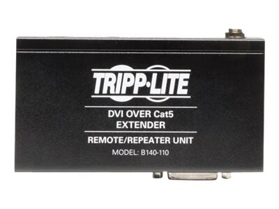 Tripp Lite DVI over Cat5 Cat6 Extender, Repeater, 1920x1080 at 60Hz, Instant Rebate - Save $23, B140-110