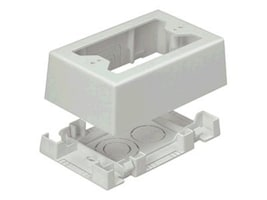 Panduit Single Gang Pan-Way Low Voltage Surface Mount Box w  Adhesive Backing, JBX3510EI-A, 8252405, Premise Wiring Equipment