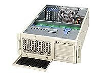 Supermicro Chassis, 4U, Tower, Dual Xeon, 800MHz, EATX, SATA 8HD Bays, 3x5.25 Bays, No CD FDD, 645W PS, Beige, CSE-743T-645, 5411642, Cases - Systems/Servers