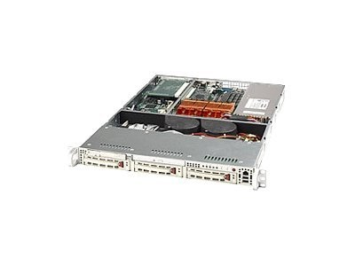 Supermicro Chassis, 1U Rackmount, 3 3.5 Drive Bays, EATX, 420W PS, Black, CSE-812I-420CB, 6866892, Cases - Systems/Servers
