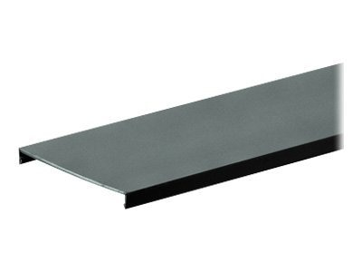 Panduit Type C Cover for Flush Cover Wiring Duct, 2.5w x 6', PVC, Black, C2.5BL6