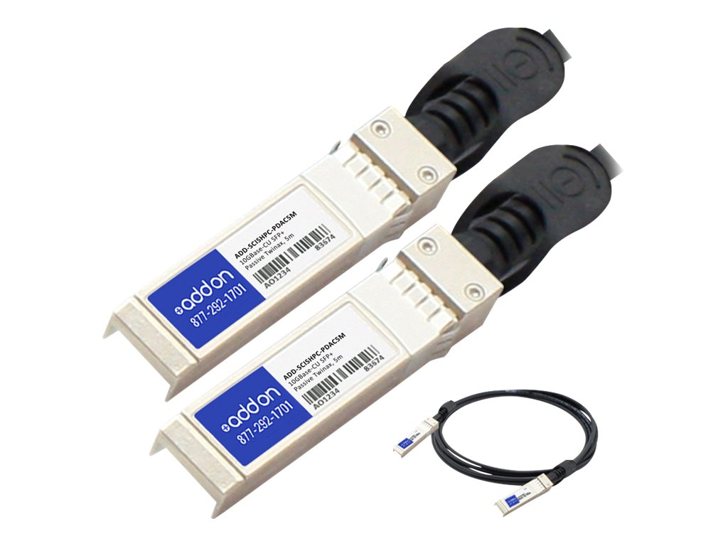 ACP-EP 10GBase-CU SFP+ to SFP+ Direct Attach Passive Twinax Cable, 5m, TAA, ADD-SCISHPC-PDAC5M