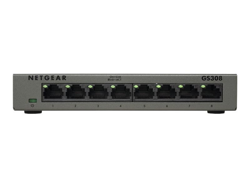 Netgear 8 Port Gigabit Switch Metal, GS308-100PAS