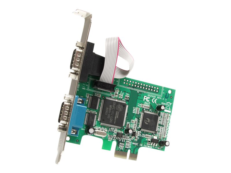 StarTech.com 2 Port PCI Express RS232 Serial Adapter Card with 16950 UART