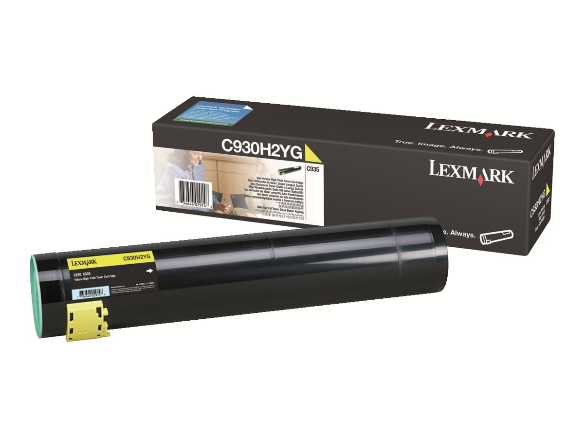 Lexmark Yellow High Yield Toner Cartridge for C935 Series Printers, C930H2YG, 7654007, Toner and Imaging Components