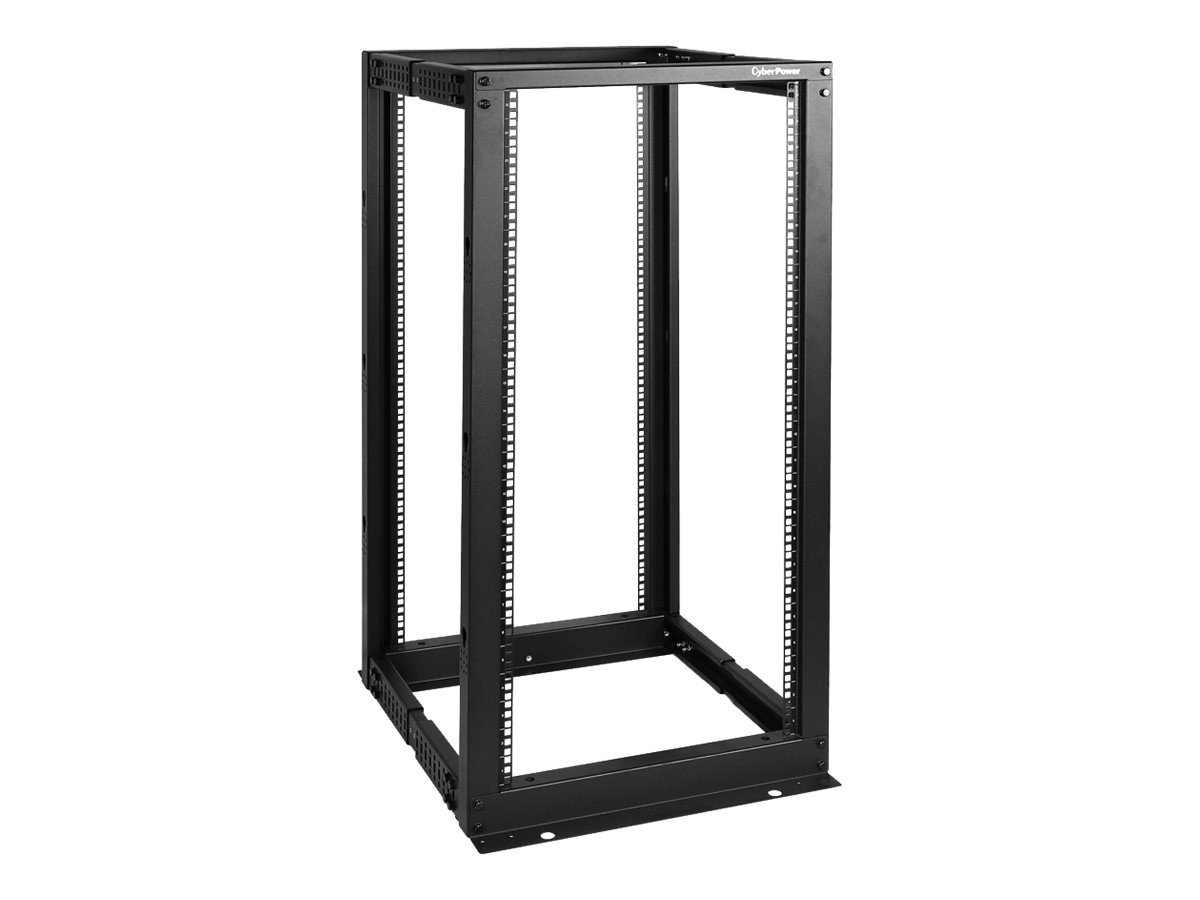 CyberPower Carbon 4-Post Open Frame Rack, 25U x 19, 1323lb Capacity, Instant Rebate - Save $24