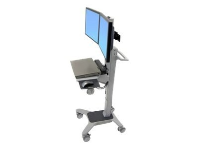 Ergotron Neo-Flex Dual WideView WorkSpace, Two-Tone Gray, 24-194-055, 9499872, Computer Carts